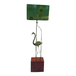 Curtis Jere Brass Flamingo Sculptural Floor Lamp