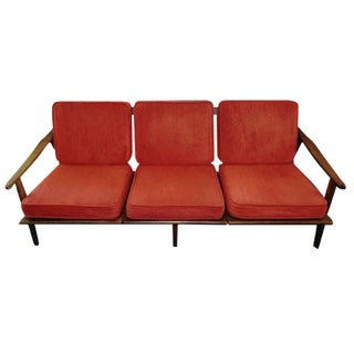 Danish 3-Seater Teak Sofa