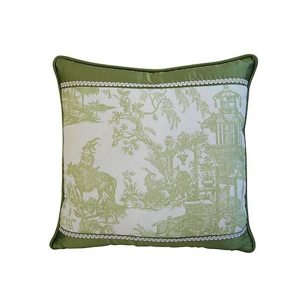 Image of Designer Chris Stone Chinoiserie Pillows - Pair