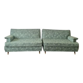 Pair of Mid Century Love Seat Sectionals