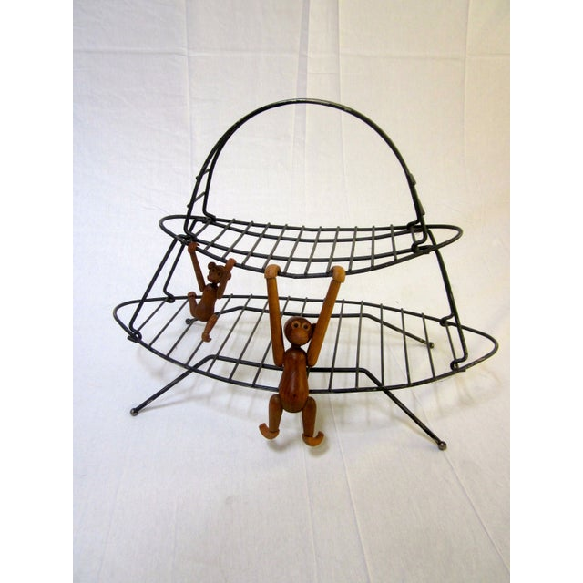 Mid-Century Modern Modernist Wire Magazine Rack - Image 5 of 6