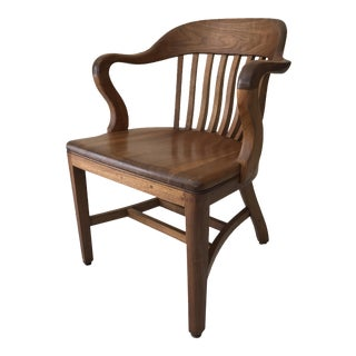 Sikes Art Deco Walnut Side Chair