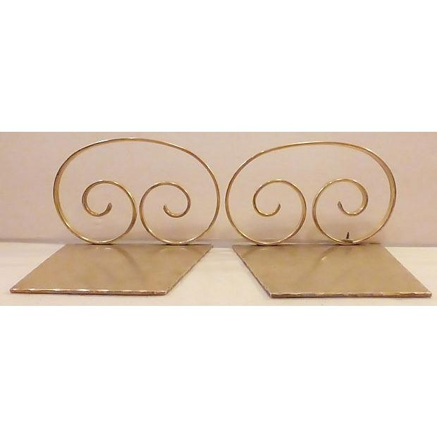 Image of Solid Brass Bookends - A Pair