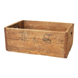 Vintage Rustic Pennsylvania Brewery Wood Crate