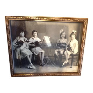 Vintage Photo of Little Girls & Their Violins