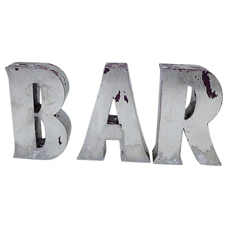 "Vintage English ""Bar"" Marquee Letters - Image 1 of 4"