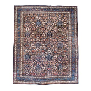 Floral Bibikabad Carpet from Central Persia