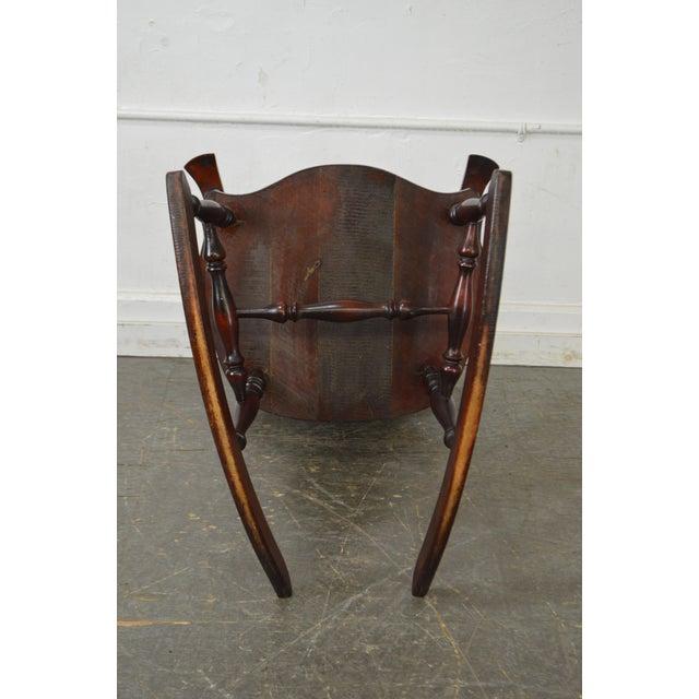 Antique Carved Mahogany Northwind Rocker Rocking Chair - Image 10 of 10 - Antique Carved Mahogany Northwind Rocker Rocking Chair Chairish