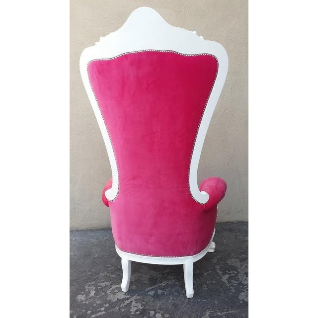 French Glam Tall Wedding Chair - Image 3 of 3