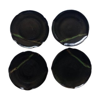Modern Rustic Studio Pottery Plates - Set of 4