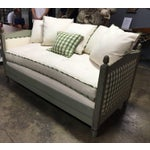 Image of SOLD - Antique French Louis XVI Style Paint Decorated Designer Daybed Sofa