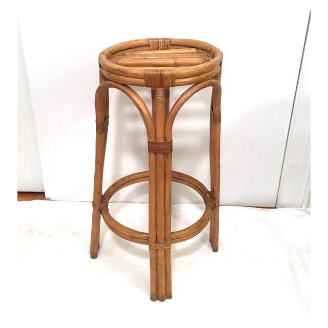 Vintage Rattan Stools or Plant Stands - a Pair - Image 6 of 7