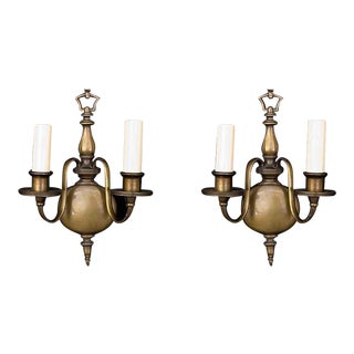 1920s American Made Bronze Sconces - A Pair