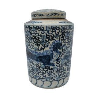 Chinese Foo Dog Tea Storage Jar