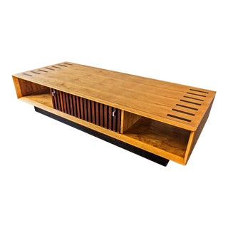 Lane Mid-Century Rosewood & Walnut Coffee Table