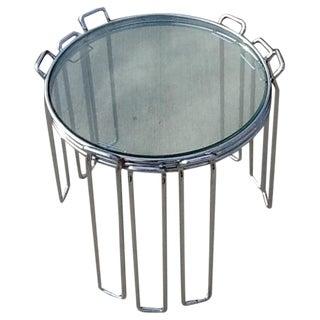 3 Mid-Century Modern Tubular Chrome Nesting Tables by Saporiti