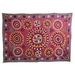 Pink Hand Embroidered Suzani Tapestry