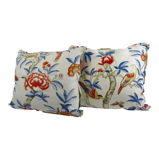 "Custom Thibaut's ""Giselle"" Designer Pillows - A Pair"