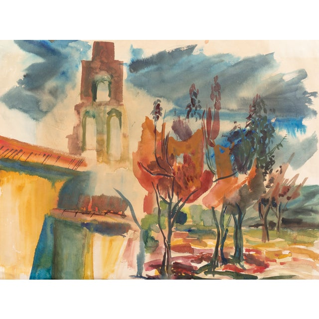 California Mission Landscape by Dora Masters, 1955 - Image 1 of 9