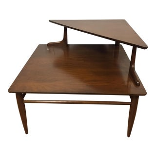 Mid-Century Modern Walnut Corner Table