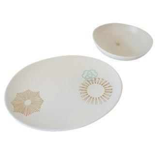 Russel Wright Solar Platter & Bowl
