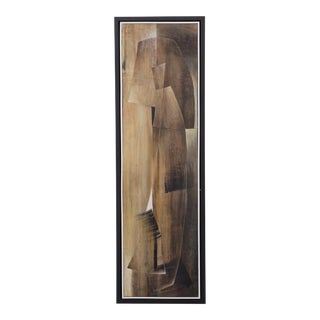 A Long Abstract Oil Painting by Hans Richter