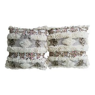 Moroccan Wedding Blanket Pillows - A Pair