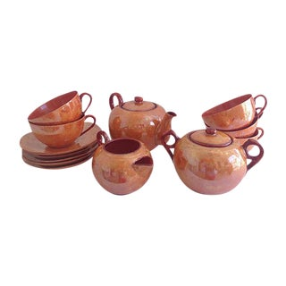 Lusterware Tea Set - Service for Five