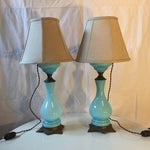 Image of Antique French Glass Lamps - A Pair