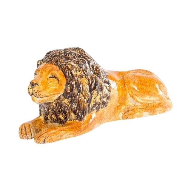 Italian Ceramic Lion - Image 1 of 7