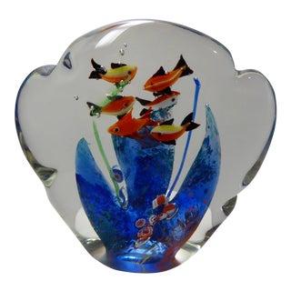 Vintage Murano Glass Aquarium Paper Weight