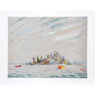 Lloyd Lozes Goff - New York Harbor Lithograph