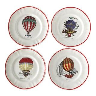 Longchamp Mid Century Hot Air Balloon Dessert Salad Plates - Set of 4