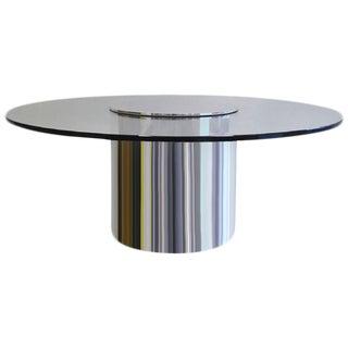 Rare Large Polished Aluminum Drum Table by Paul Mayen for Habitat