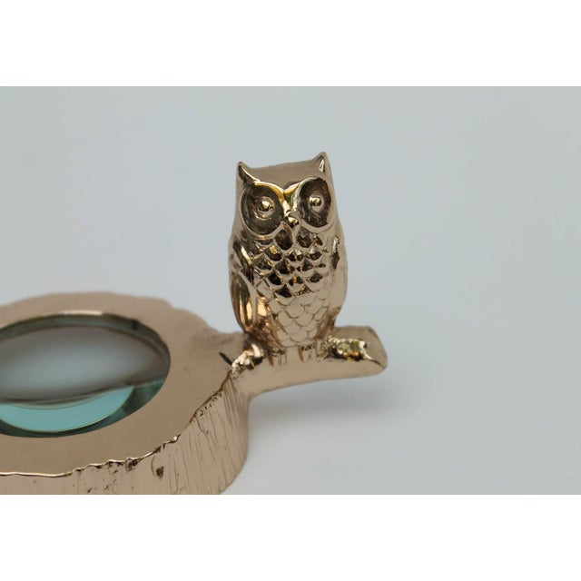 Image of Brass Owl Magnifying Glass