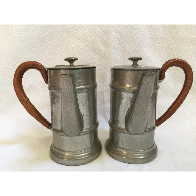 English Pewter Coffee Pots - A Pair - Image 2 of 9