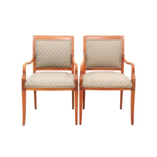 Neoclassical Style Swan Neck Chairs - A Pair