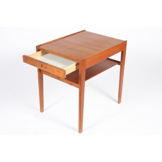 Image of Mid-Century Swedish Teak Side Table