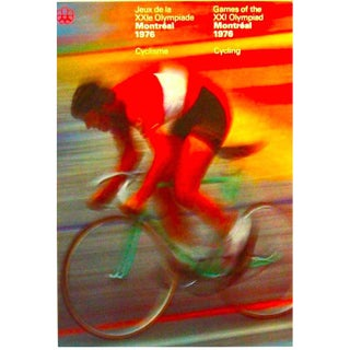 1976 Montreal Olympics Cycling Poster