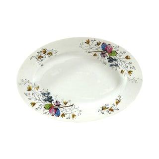Antique Floral Porcelain Serving Dish