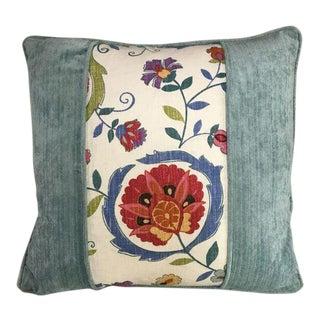 Kim Salmela Velvet and Floral Patchwork Pillow