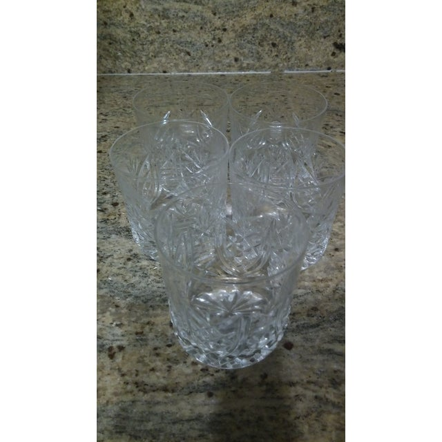 Vintage Etched Rocks Glasses - Set of 4 - Image 5 of 11