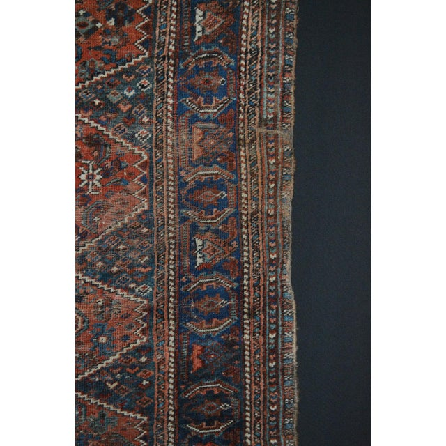 "Distressed Antique Persian Tribal Rug - 3'7"" X 4'9"" - Image 8 of 9"