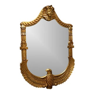 Egyptian Inspired Gilt Wood Wall Mirror