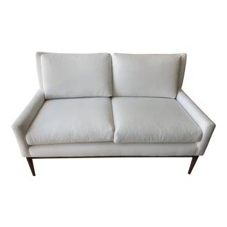Mid-Century Modern White Settee
