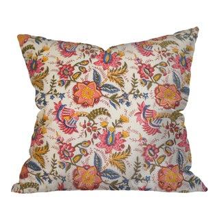 Indian Block Print Floral Pillow