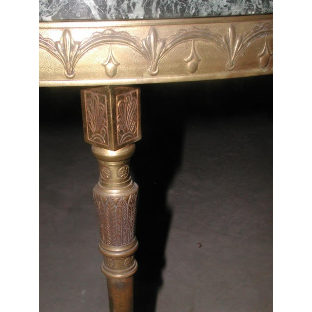 Bronze Neoclassical Marble & Mirror Coffee Table - Image 10 of 10