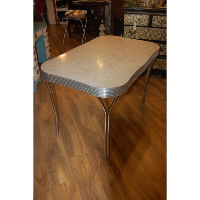 1950s Y-Leg Chrome Dining Table - Image 5 of 6