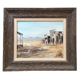 Antique Framed Southwestern Oil Painting
