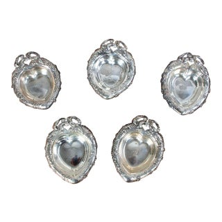Reed and Barton Heart-Shaped Sterling Nut Dishes - Set of 5